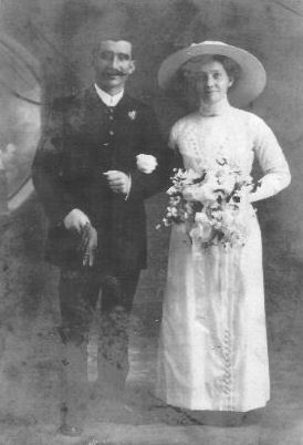 Bathia Cooper and Archibald Ferguson on their wedding day 1908
